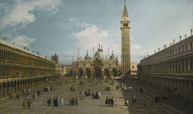 Canaletto - View of the Piazza San Marco
