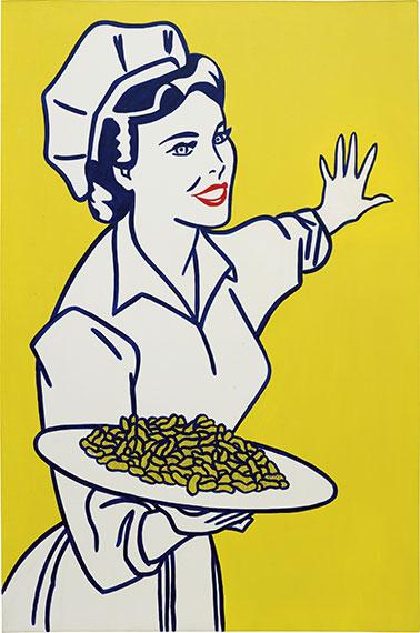roy lichtenstein-womanwithpeanuts1962