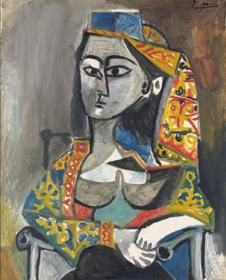 Pablo Picasso, Femme au costume turc dans un fauteuil, 1955