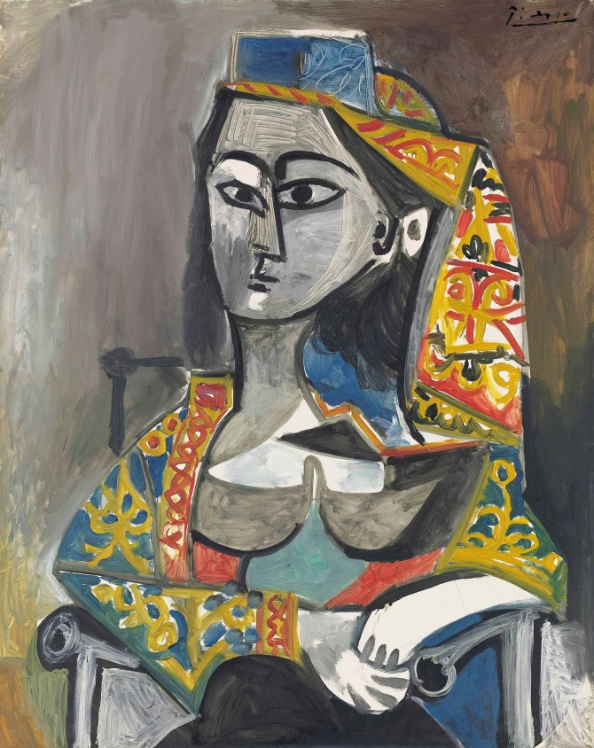 Pablo Picasso, Femme au costume turc dans un fauteuil Painted in 1955 Estimate: £15,000,000 - 20,000,000 Christie's Images Ltd. 2014